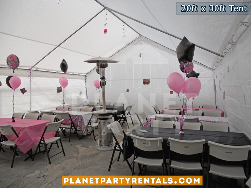 White Party Tent Rentals with tables and chairs| Weddings Quinceanera Corporate Events | San Fernando Valley