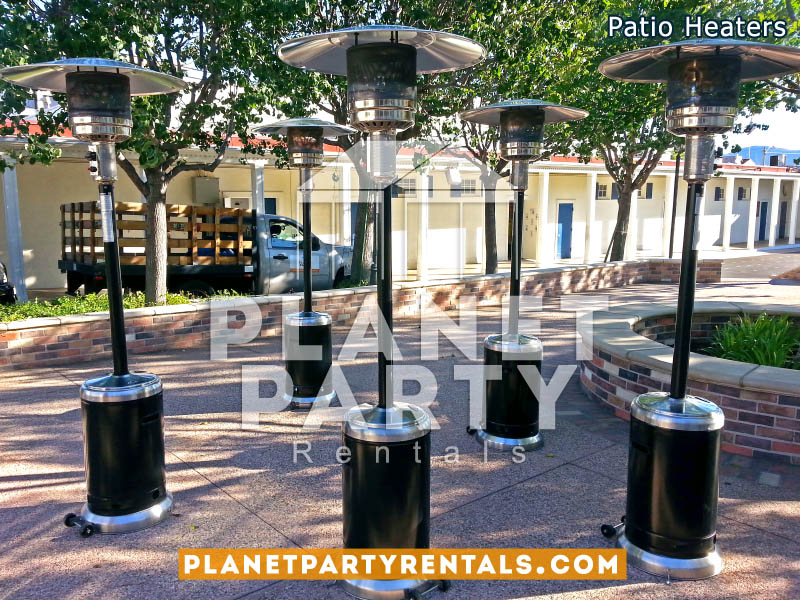 Outdoor Stainless Steel/Black Gas Patio Heater