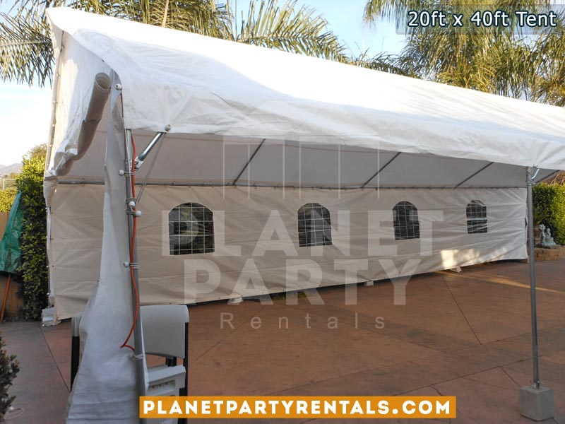20ft x 40ft Tent for Weddings Quinceanera Corporate Events | San Fernando Valley | Party Tent Rentals