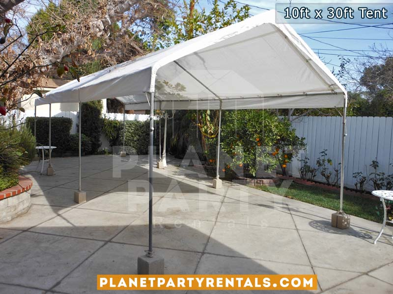 10ft x 30ft White Party Tent | Tent packages includes tent with tables and chairs | Weddings Party Rentals Quinceanera Baptism | San Fernando Valley Encino Tarzana ShermanOaks Studio City Burbank