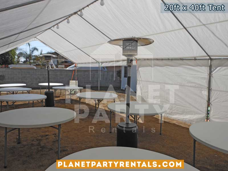 20ft x 40ft Tent for Weddings Quinceanera Corporate Events | Tent with sidewalls tables and chairs |San Fernando Valley | Party Tent Rentals