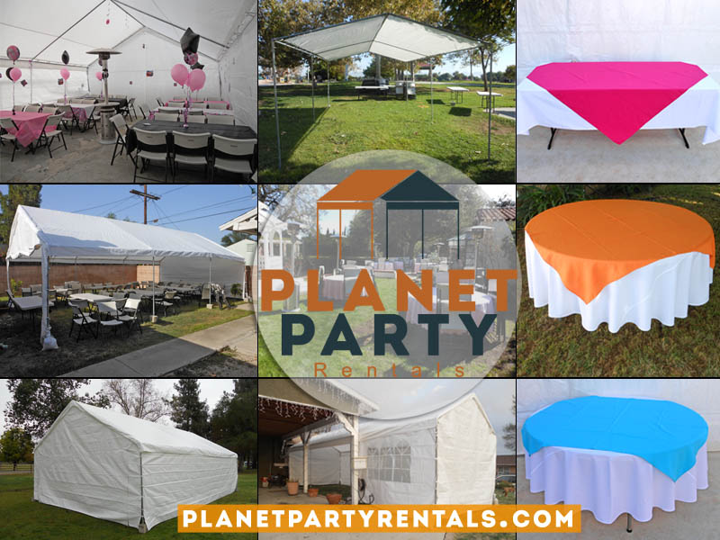 party rental tents tables chairs patio heaters for weddings corporate events san fernando valley