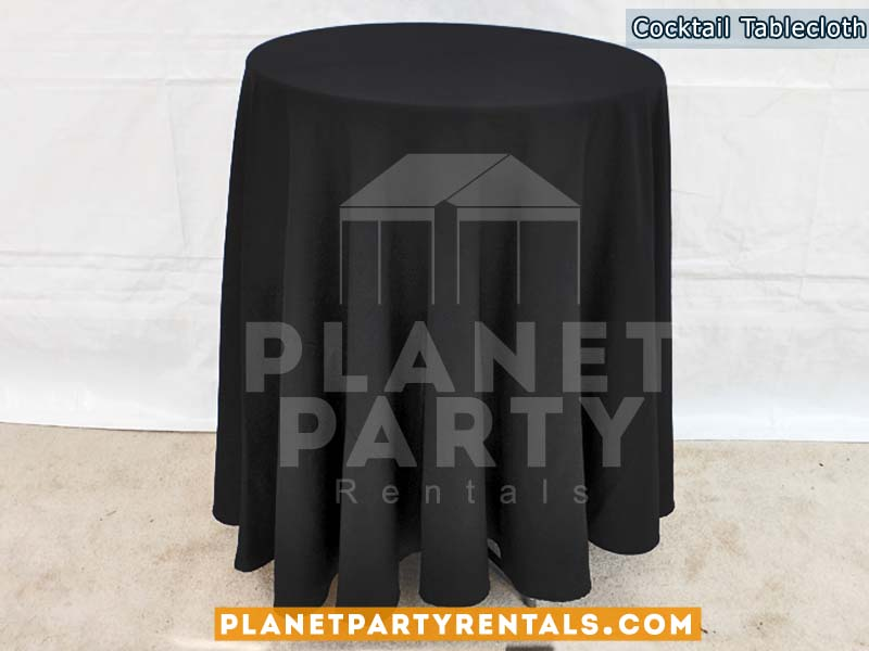 Cocktail Table with Black Tablecloth